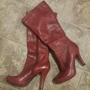 "Shoes - ""RED Distressed Leather Boots"""